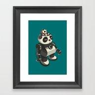 Mecha-Panda Framed Art Print