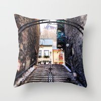 Old Quebec City Throw Pillow