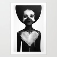 eye Art Prints featuring Hold On by Ruben Ireland