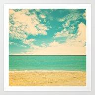 Art Print featuring Retro Beach by AC Photography