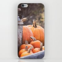 Pumpkins + Milk Cans iPhone & iPod Skin