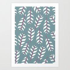 Simple leaf print Art Print