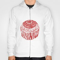 Tea Cake pen drawing (red) Hoody