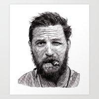 Art Print featuring Tom by Rik Reimert