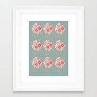 Flower pad Framed Art Print