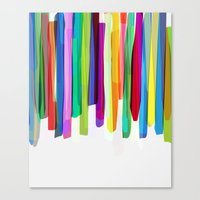 Colorful Stripes 2 Canvas Print