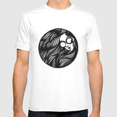 Circle Lady 3 Mens Fitted Tee White SMALL