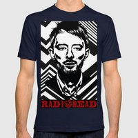 RadioHead Mens Fitted Tee Navy SMALL