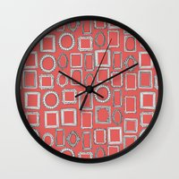 Picture Frames Coral Wall Clock