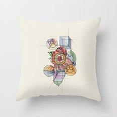 La geometría de las flores Throw Pillow
