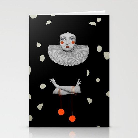 Rodinia in Black Stationery Card