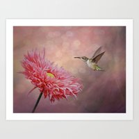 A Hummingbirds Dance Art Print