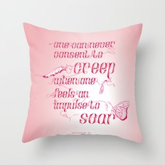 Be who you are... - pink Throw Pillow