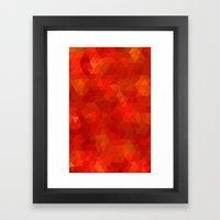 Orange Flames Framed Art Print