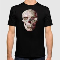 Nothing Is Accomplished (P/D3 Glitch Collage Studies) Mens Fitted Tee Black SMALL