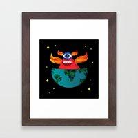 Master of the universe  Framed Art Print
