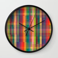 Wall Clock featuring Cracked by Datavis/pwowk