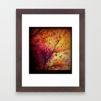 The storm (later that very evening) Framed Art Print