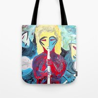 Three Blue Jazz Sisters Tote Bag