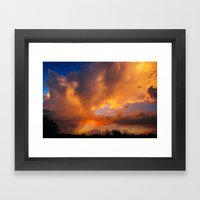 The Storm is Here Framed Art Print