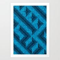 Textile Bricks Art Print