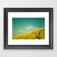 Golden Field Framed Art Print