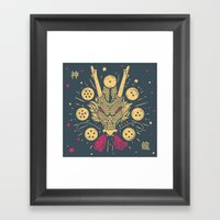 The Cult Of Shenron: Jap… Framed Art Print