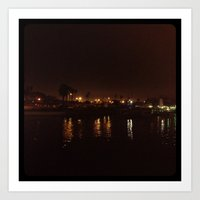 Water at night. Art Print