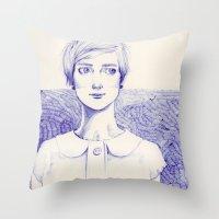 Short Lines Throw Pillow