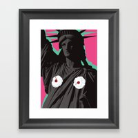 America Is Sexy Framed Art Print