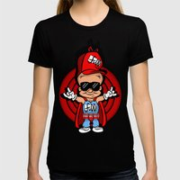 Fudd Man! Womens Fitted Tee Black SMALL