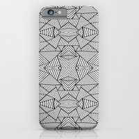 iPhone & iPod Case featuring Abstract Mirror Black on White by Project M