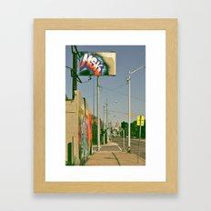 MSK with MSK in the back Framed Art Print