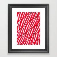 Sugar Surface Framed Art Print
