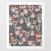 sweater mice coral Art Print