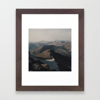 Mountain Layers In The W… Framed Art Print