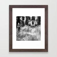 Summer space, smelting selves, simmer shimmers. 22, grayscale version Framed Art Print