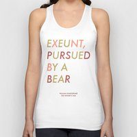 Shakespeare - The Winter's Tale - Exeunt Exit Pursued by a Bear Unisex Tank Top