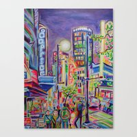 Granville At The Warehouse, Vancouver Canvas Print