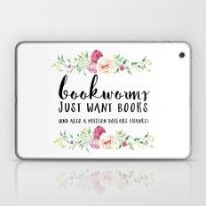 Bookworms Want Books Laptop & iPad Skin