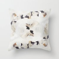 Ink and coffee II Throw Pillow
