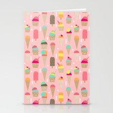Ice Cream summer fresh food vacation heatwave city life pattern print geometric triangle design Stationery Cards