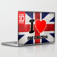 one direction Laptop & iPad Skins featuring ONE DIRECTION by Bilqis