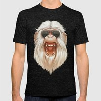 The Great White Angry Mo… Mens Fitted Tee Tri-Black SMALL