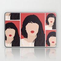Zooey Deschanel Portrait Laptop & iPad Skin