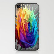 Colorful Flaming Flower iPhone & iPod Skin