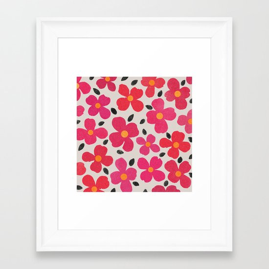 Dogwood Berry Framed Art Print
