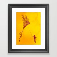 Playing With Fire Framed Art Print
