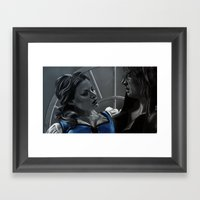 La Belle et la Bête Framed Art Print