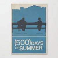 500 Days Of Summer Movie… Canvas Print